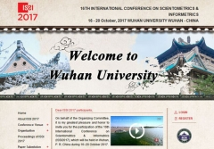 第十六届国际科学计量学与信息计量学大会(ISSI) 网站开通公告